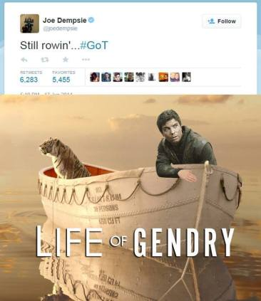 Gendry Still Rowing